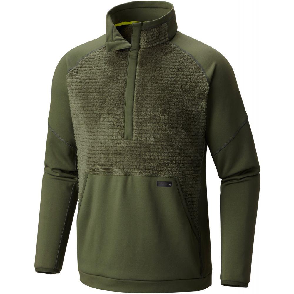 マウンテンハードウェア Mountain Hardwear メンズ スキー・スノーボード トップス【Monkey Man Pullover Fleece】Surplus Green