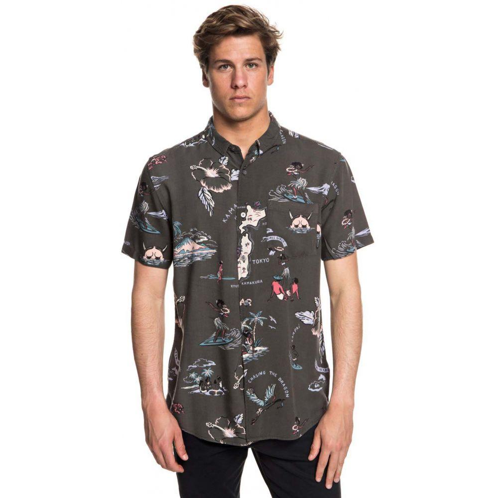 クイックシルバー Quiksilver メンズ トップス 半袖シャツ【Banzai Camp Shirt】Tarmac Variable Camp