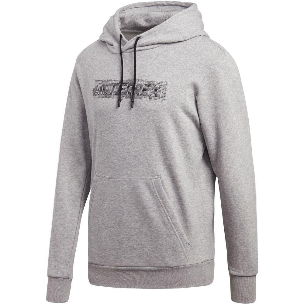 アディダス Adidas メンズ スキー・スノーボード トップス【Terrex Logo Hoodie】Medium Grey Heather