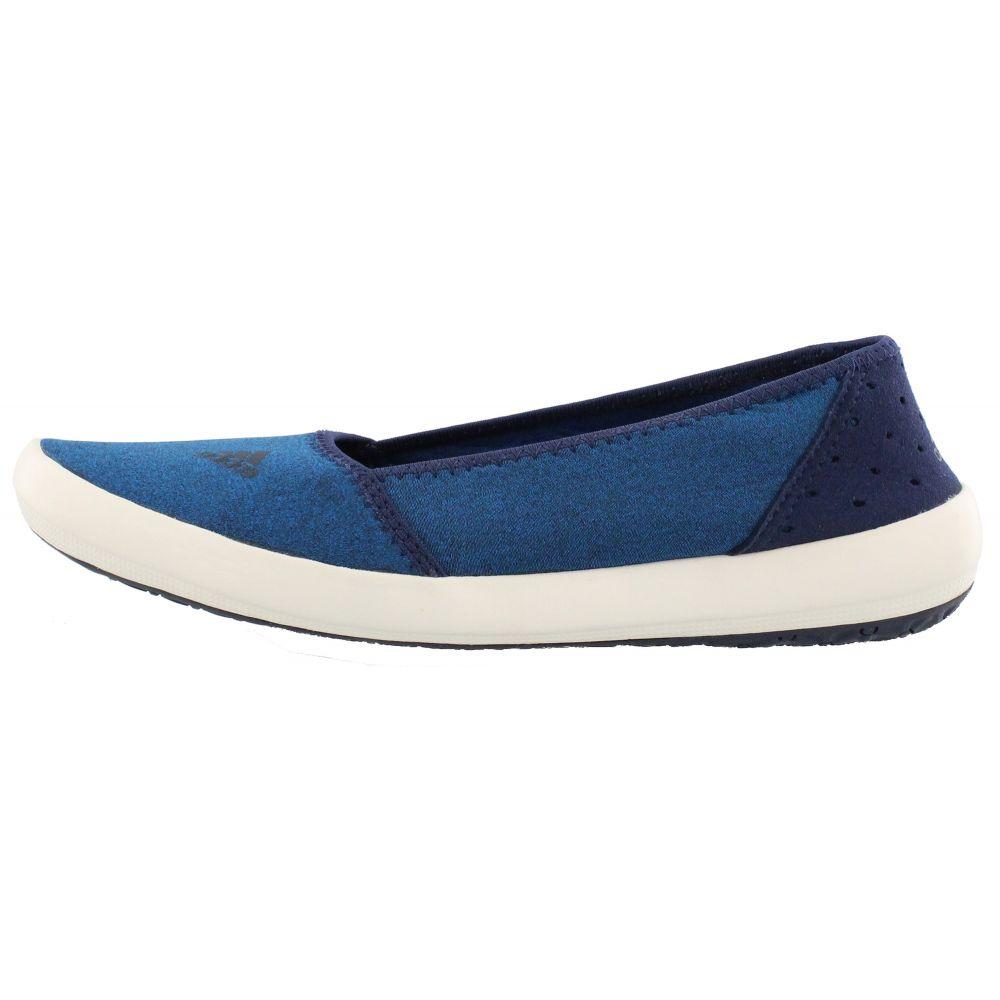 アディダス Adidas レディース シューズ・靴 ウォーターシューズ【Boat Slip-On Sleek Water Shoes】Shock Blue/Col Navy/Chalk White