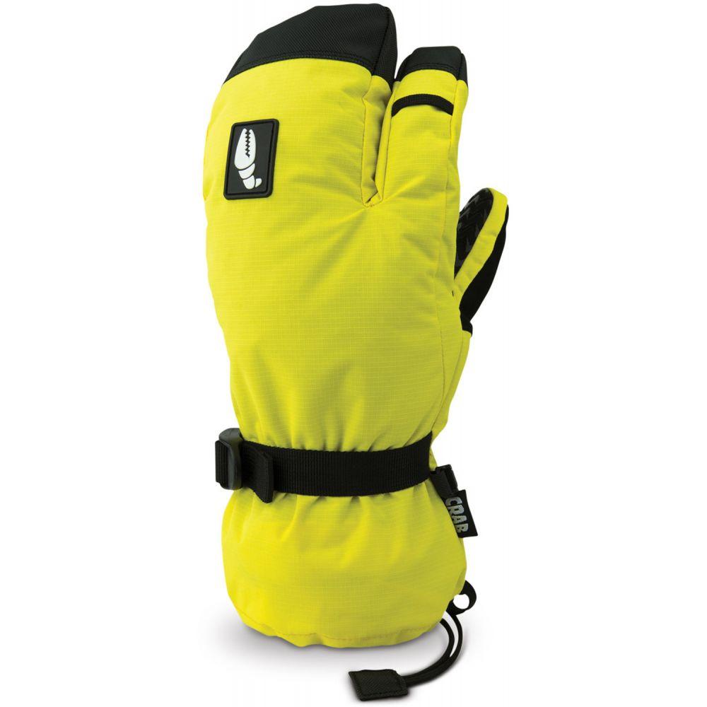 クラブグラッブ Crab Grab メンズ スキー・スノーボード グローブ【Snurf Trigger Mittens】Yellow