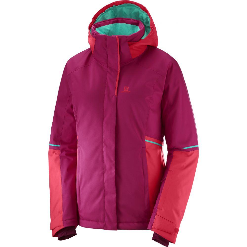 サロモン Salomon レディース スキー・スノーボード アウター【Stormseason Ski Jacket】Cerise/Hibiscus