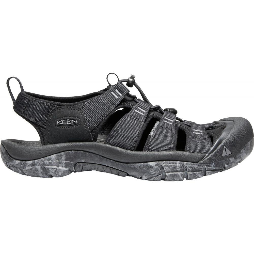 キーン Keen メンズ シューズ・靴 ウォーターシューズ【Newport H2 Water Shoes】Black/Swirl Outsole
