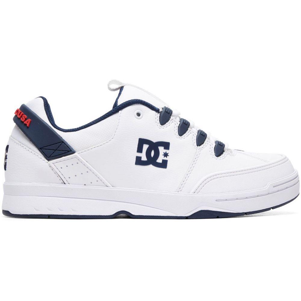 ディーシー DC メンズ スケートボード シューズ・靴【Syntax Skate Shoes】White/Navy