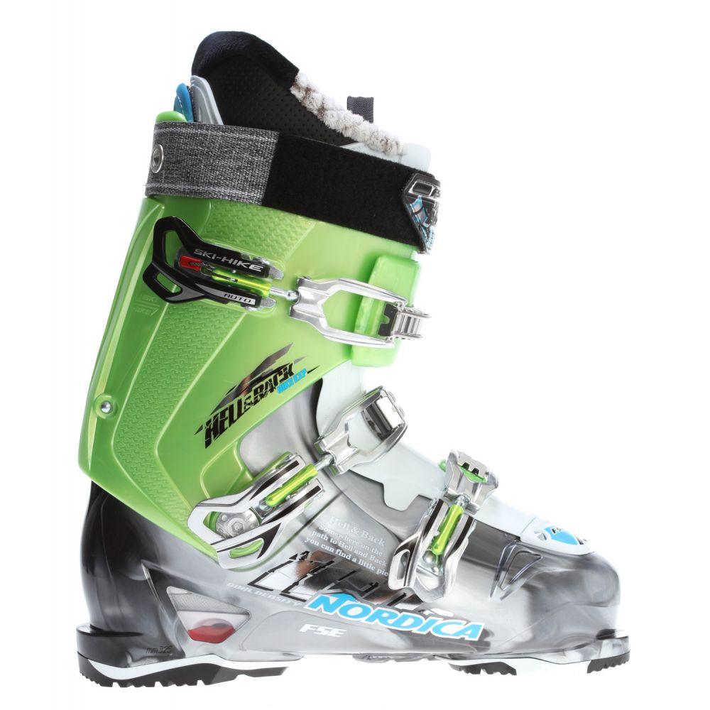 ノルディカ Nordica メンズ スキー・スノーボード シューズ・靴【Hell & Back Hike Exp Ski Boots】Anthracite/Acid Green