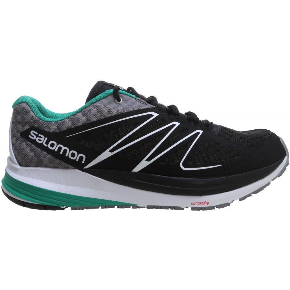 サロモン Salomon メンズ ランニング・ウォーキング シューズ・靴【Sense Pulse Trail Running Shoes】Black/White/Real Green