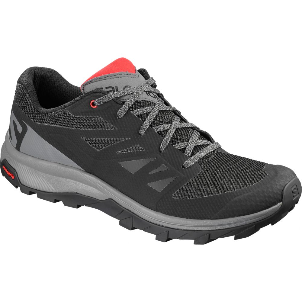 サロモン Salomon メンズ ハイキング・登山 シューズ・靴【Outline Hiking Shoes】Black/Quiet Shade/High Risk Red