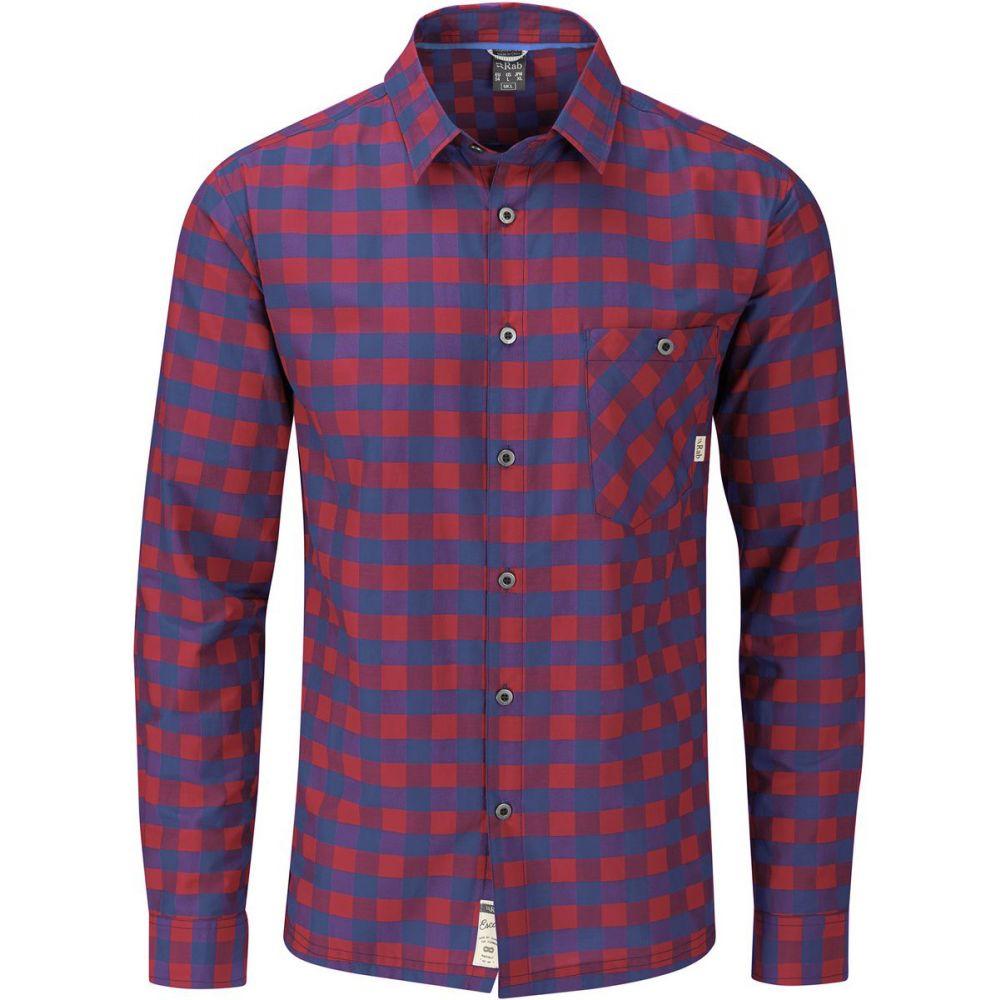 ラブ Rab メンズ トップス【Maverick L/S Performance Shirt】Blueprint