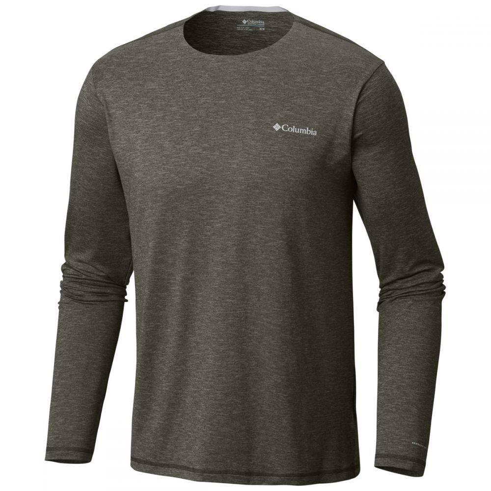 コロンビア Columbia メンズ トップス【Tech Trail L/S Crew Shirt】Peatmoss