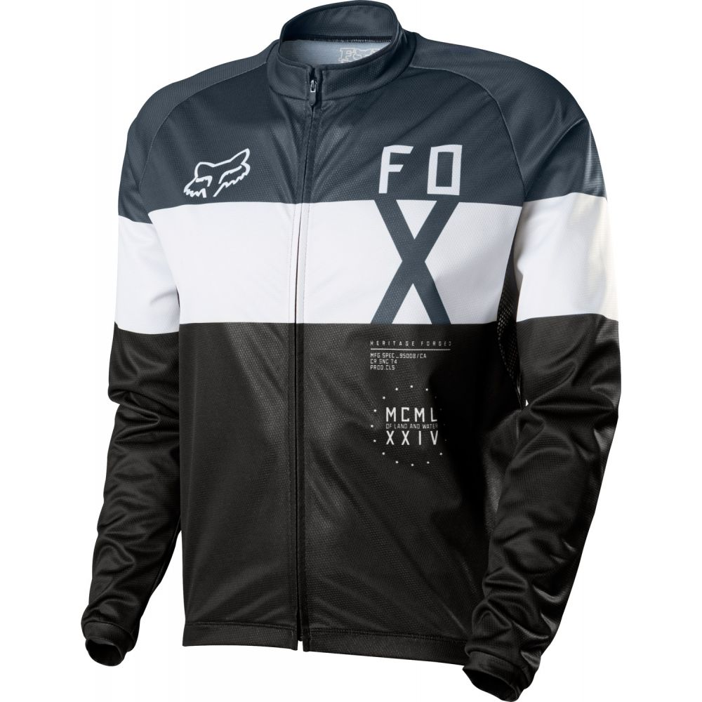 フォックス Fox メンズ 自転車 トップス【Livewire Shield L/S Bike Jersey】Black