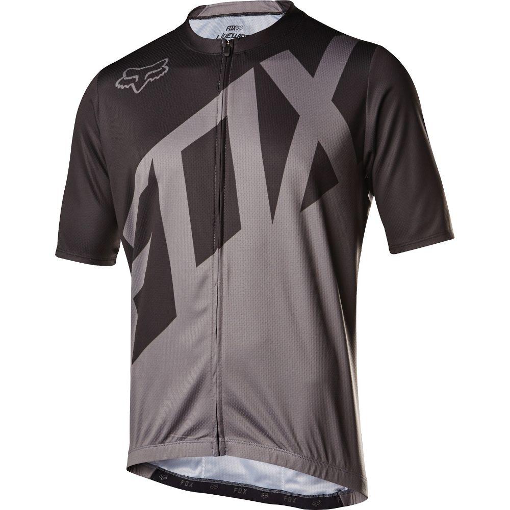 フォックス Fox メンズ 自転車 トップス【Livewire Bike Jersey】Black/Charcoal