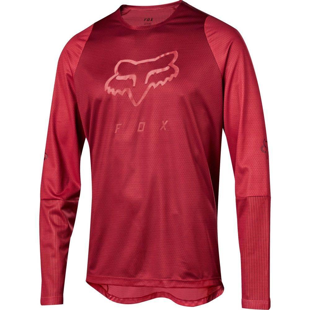 フォックス Fox メンズ 自転車 トップス【Defend head L/S Bike Jersey】Cardinal