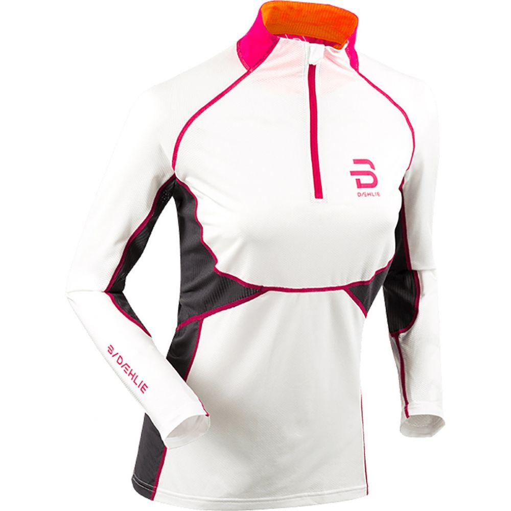 ビョルン ダーリ Bjorn Daehlie レディース スキー・スノーボード トップス【Half Zip Tech Baselayer Top】White/Grey/Orange/Pink