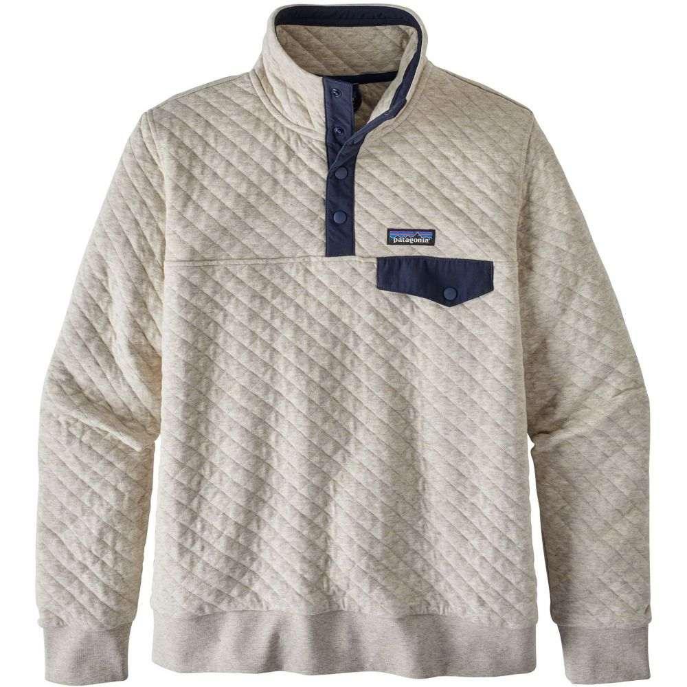 パタゴニア Patagonia レディース トップス フリース【Organic Cotton Quilted Snap-T Pullover Fleece】Drifter Grey/Pipe Purple