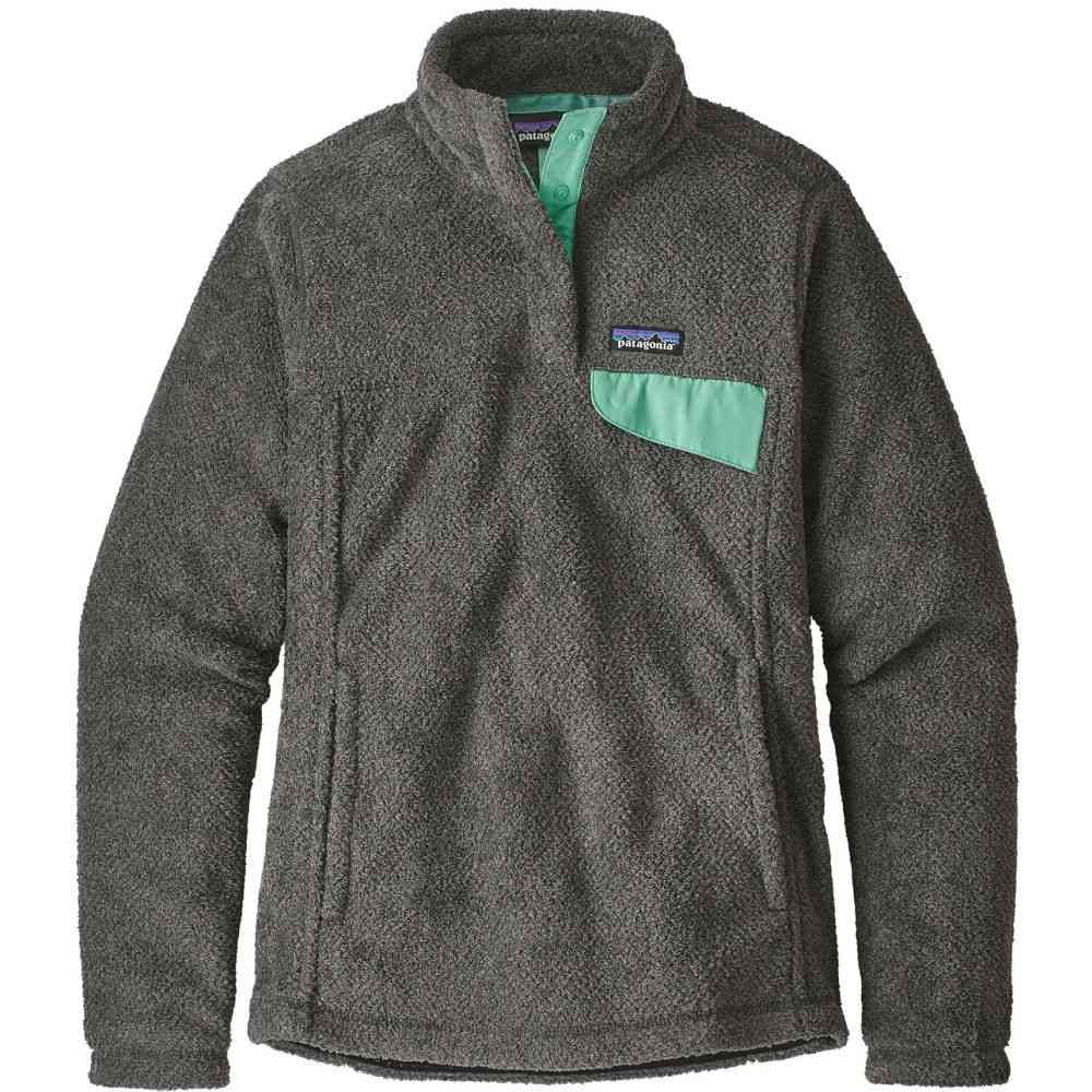 パタゴニア Patagonia レディース トップス フリース【Re-Tool Snap-T Pullover Fleece】Feather Grey/Ink Black w/Vjosa Green X-Dye