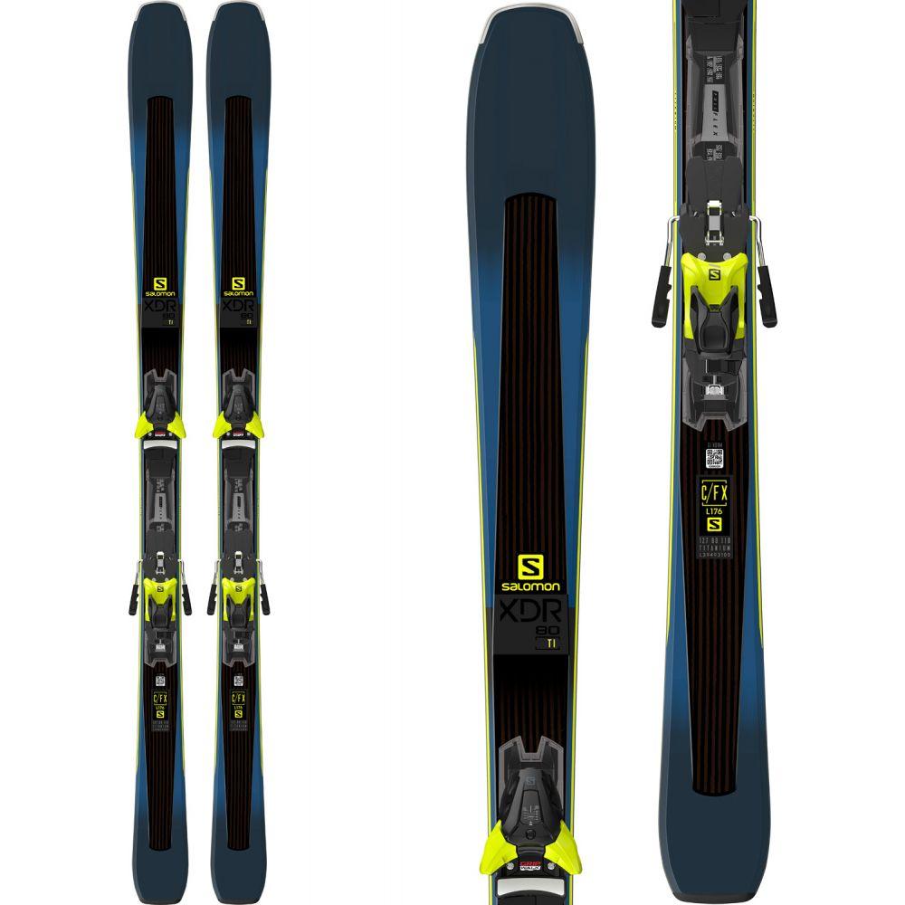 サロモン Salomon メンズ スキー・スノーボード ボード・板【XDR 80 Ti Skis w/ Z12 Walk Bindings】Blue/Lime