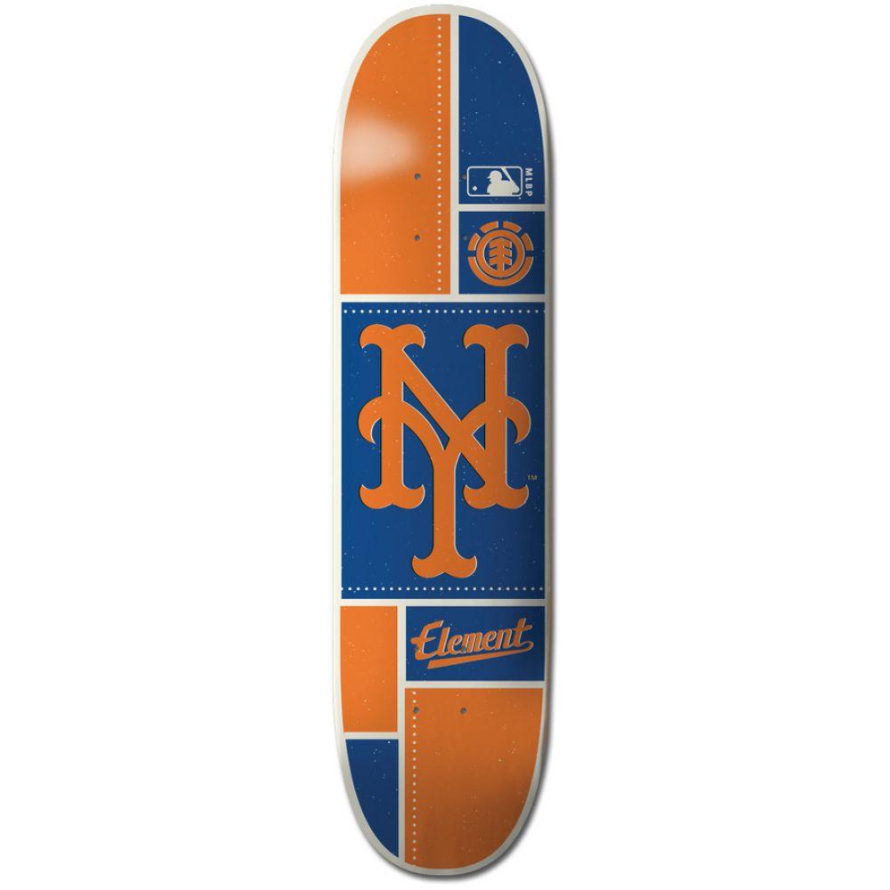エレメント Element メンズ スケートボード ボード・板【MLB New York Mets Square Skateboard Deck】Assorted