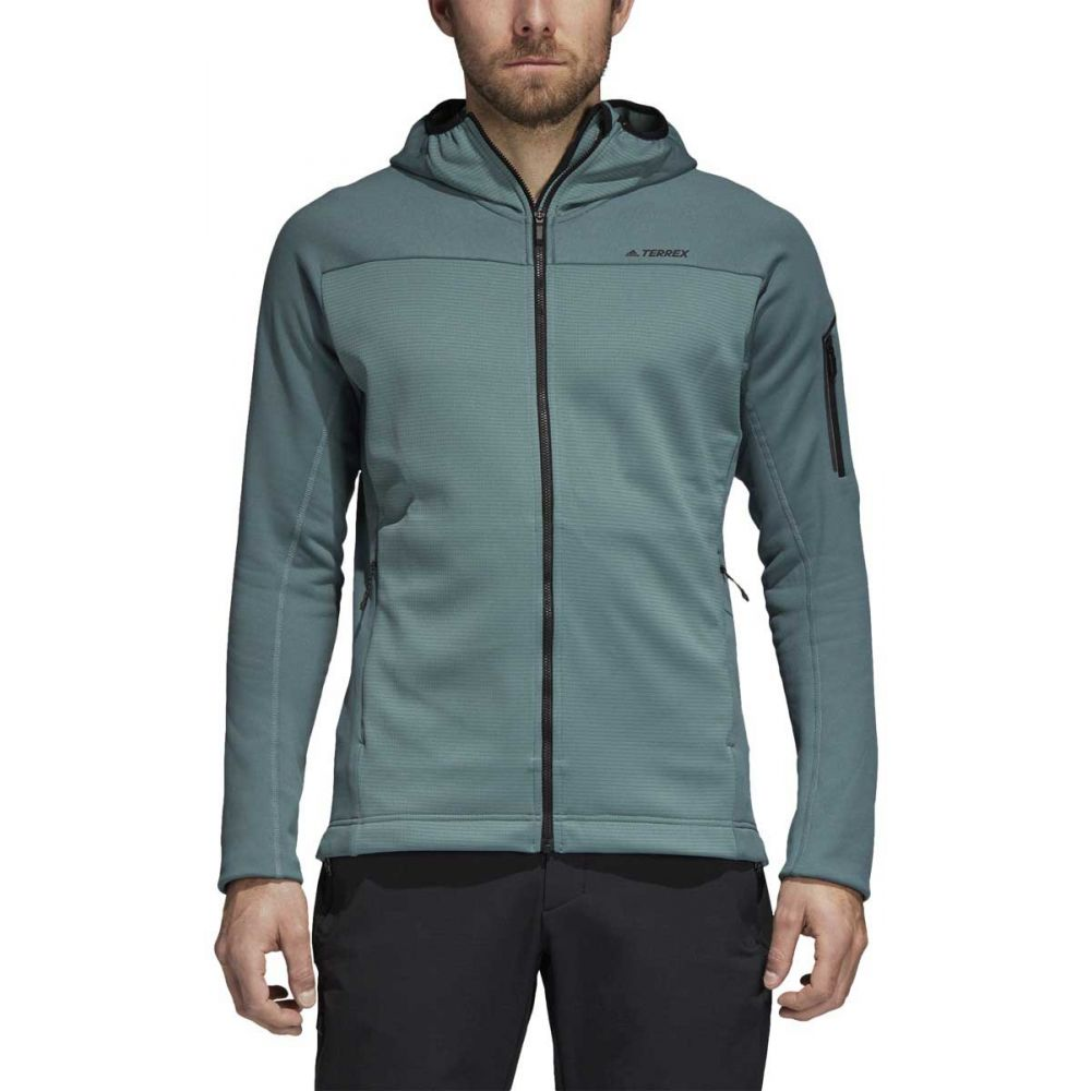 アディダス Adidas メンズ トップス フリース【Stockhorn II Hooded Fleece】Raw Green