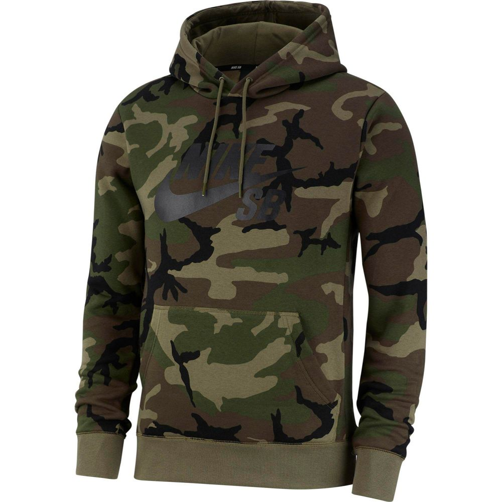 ナイキ Nike メンズ スキー・スノーボード トップス【SB Icon Pullover Hoodie】Medium Olive/Medium Olive/Black