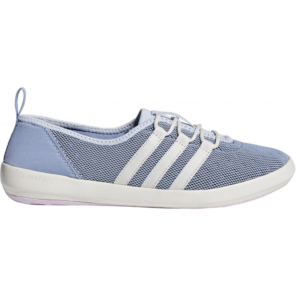 アディダス Adidas レディース シューズ・靴 ウォーターシューズ【Terrex Climacool Boat Sleek Water Shoes】Chalk Blue/Chalk White/Aero Pink