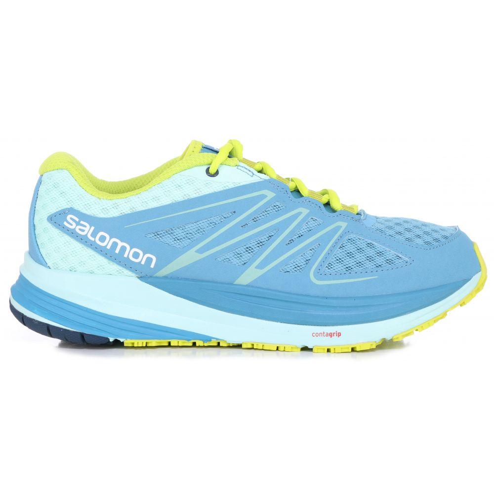 サロモン Salomon レディース ランニング・ウォーキング シューズ・靴【Sense Pulse Trail Running Shoes】Mist Blue/Igloo Blue/Gecko Green