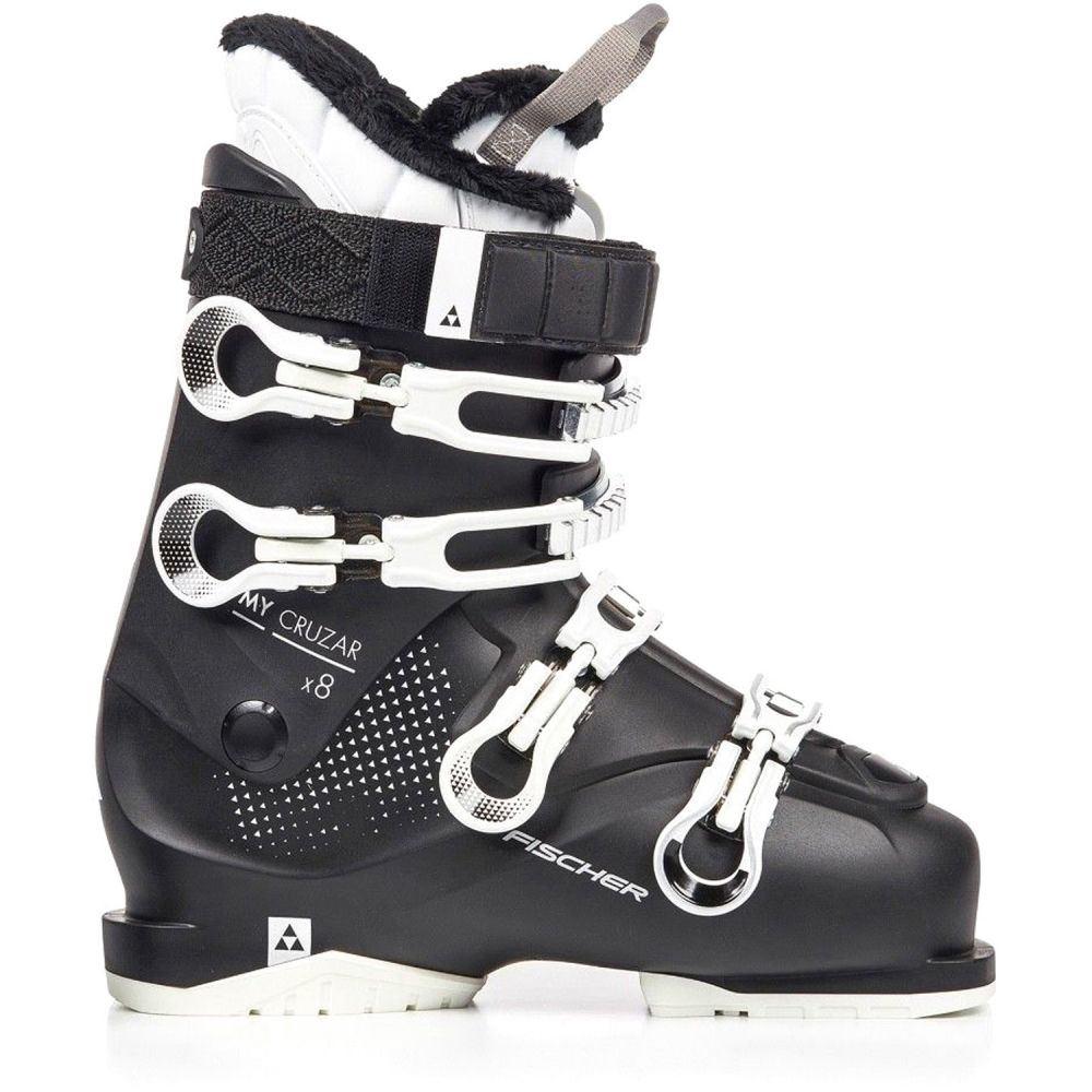 フィッシャー Fischer レディース スキー・スノーボード シューズ・靴【My Cruzar x 8.0 Thermoshape Ski Boots】Black/Black