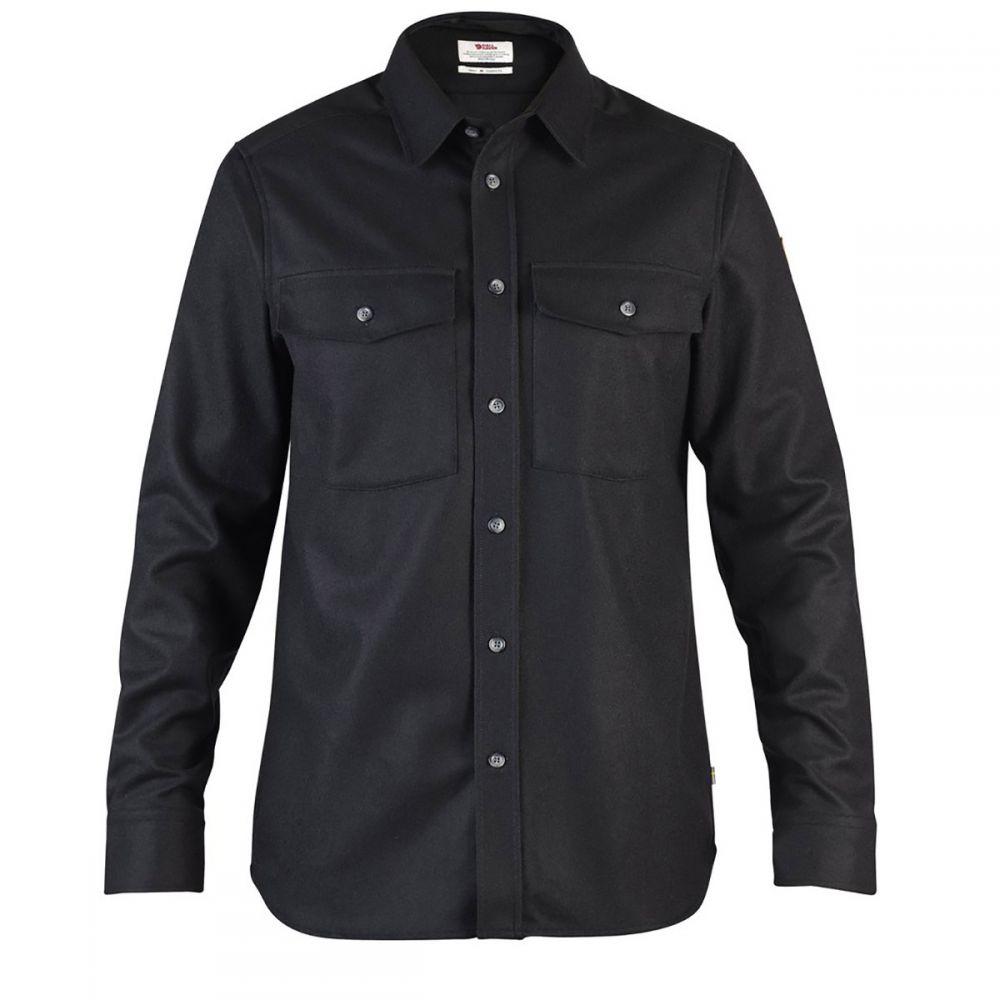 フェールラーベン Fjallraven メンズ トップス シャツ【Ovik Re-Wool L/S Shirt】Black