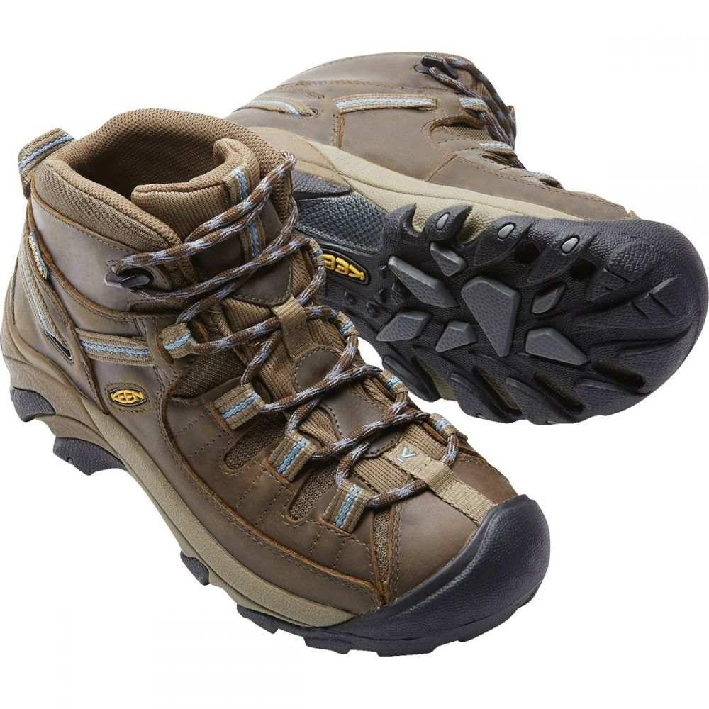 キーン Keen レディース ハイキング・登山 シューズ・靴【Targhee II Mid WP Hiking Boots】Slate Black/Flint Stone