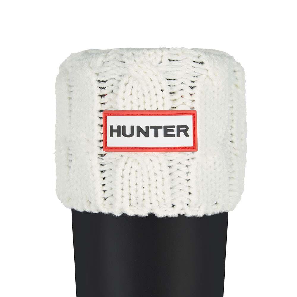 ハンター Hunter レディース スキー・スノーボード【6-Stitch Cable Boot Socks】Natural White