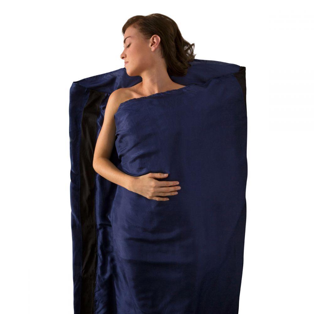 シー トゥ サミット Sea To Summit メンズ ハイキング・登山【Premium Silk Travel Sleeping Bag Liner】Navy Blue