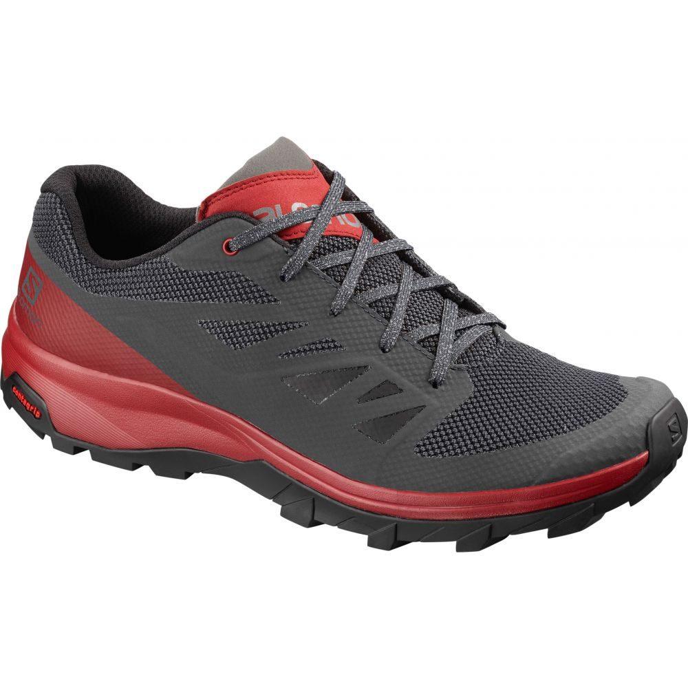 サロモン Salomon メンズ ハイキング・登山 シューズ・靴【Outline Hiking Shoes】Ebony/Red Dahlia/Frost Grey