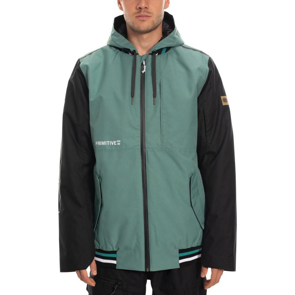 シックス エイト シックス 686 メンズ スキー・スノーボード ミリタリージャケット ジャケット アウター【X Primitive Tech Bomber Snowboard Jacket 2020】Marine Green