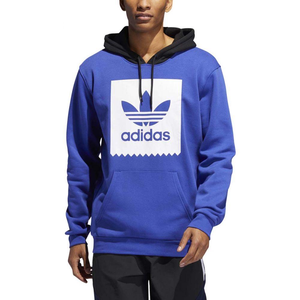 アディダス Adidas メンズ スキー・スノーボード パーカー トップス【Trefoil Solid Hoodie】Active Blue/White/Black