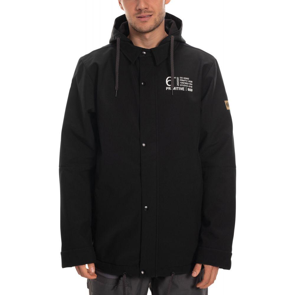 シックス エイト シックス 686 メンズ スキー・スノーボード コーチジャケット アウター【X Primitive Waterproof Coaches Snowboard Jacket 2020】Black Primitive