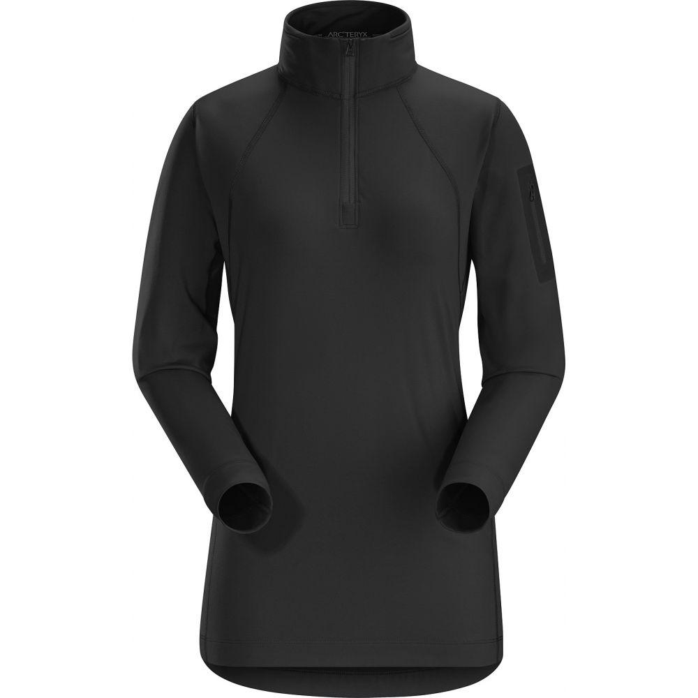 アークテリクス Arc'teryx レディース スキー・スノーボード ベースレイヤー トップス【Rho LT Zip Neck Baselayer Top】Black