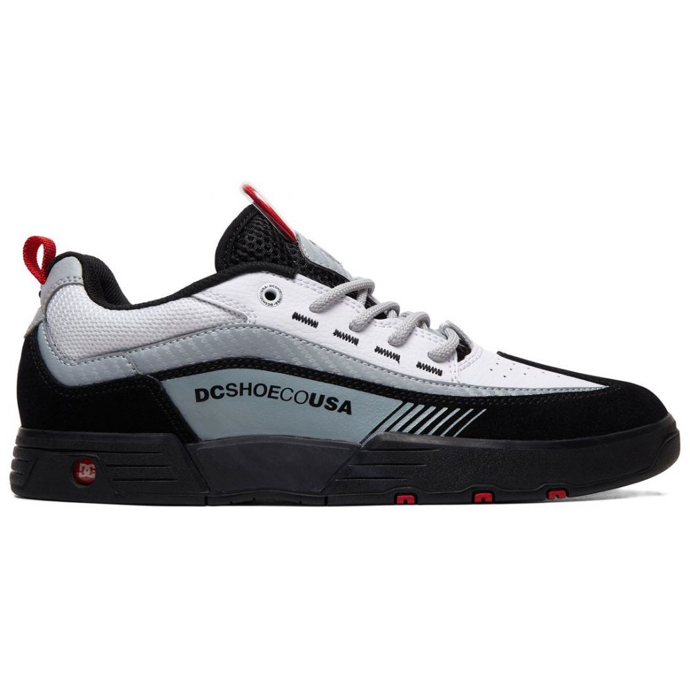 ディーシー DC メンズ スケートボード シューズ・靴【Legacy 98 Slim Skate Shoes】Black/White/Red
