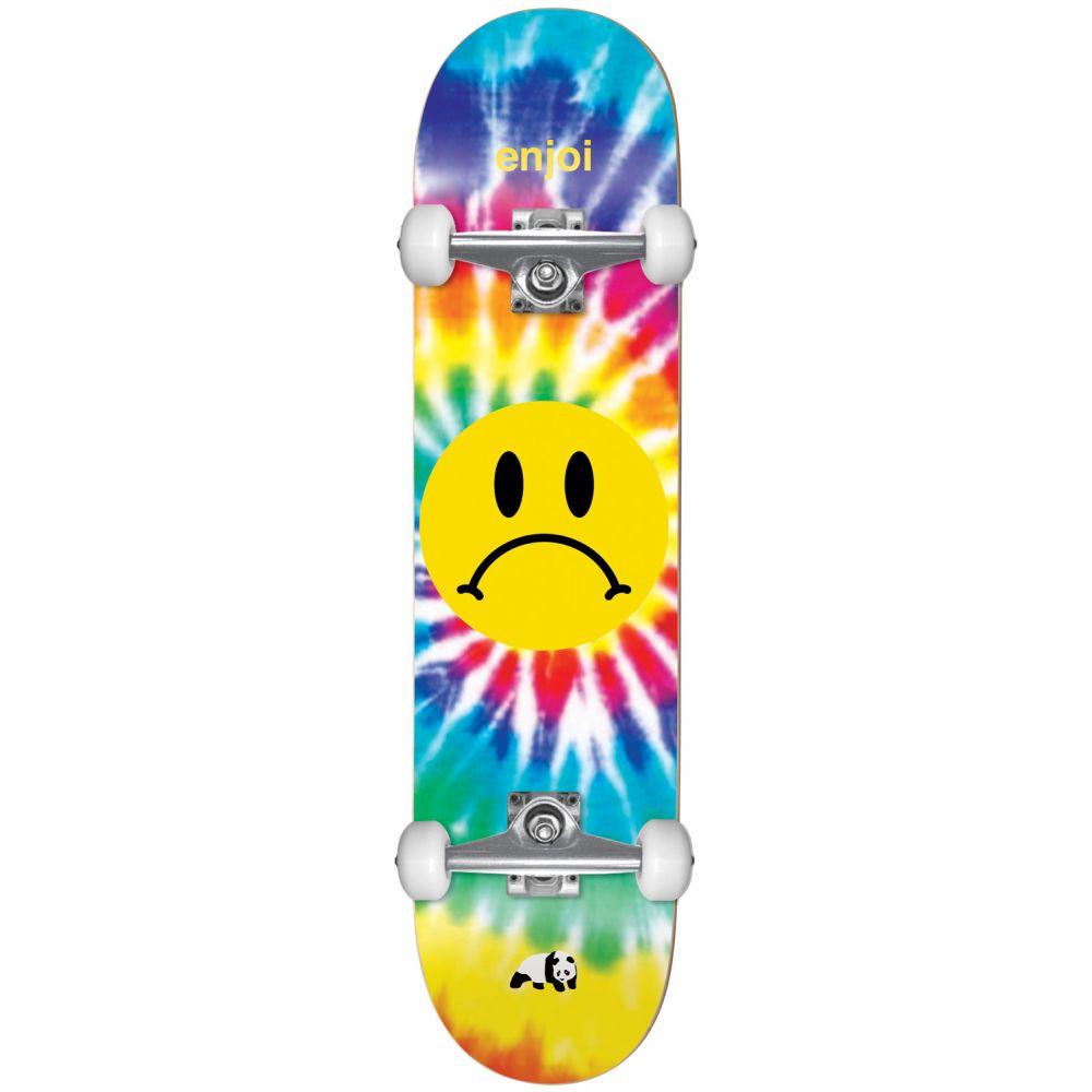 エンジョイ Enjoi メンズ スケートボード ボード・板【Frowney Tie-Dye Skateboard Complete】Tie-Dye
