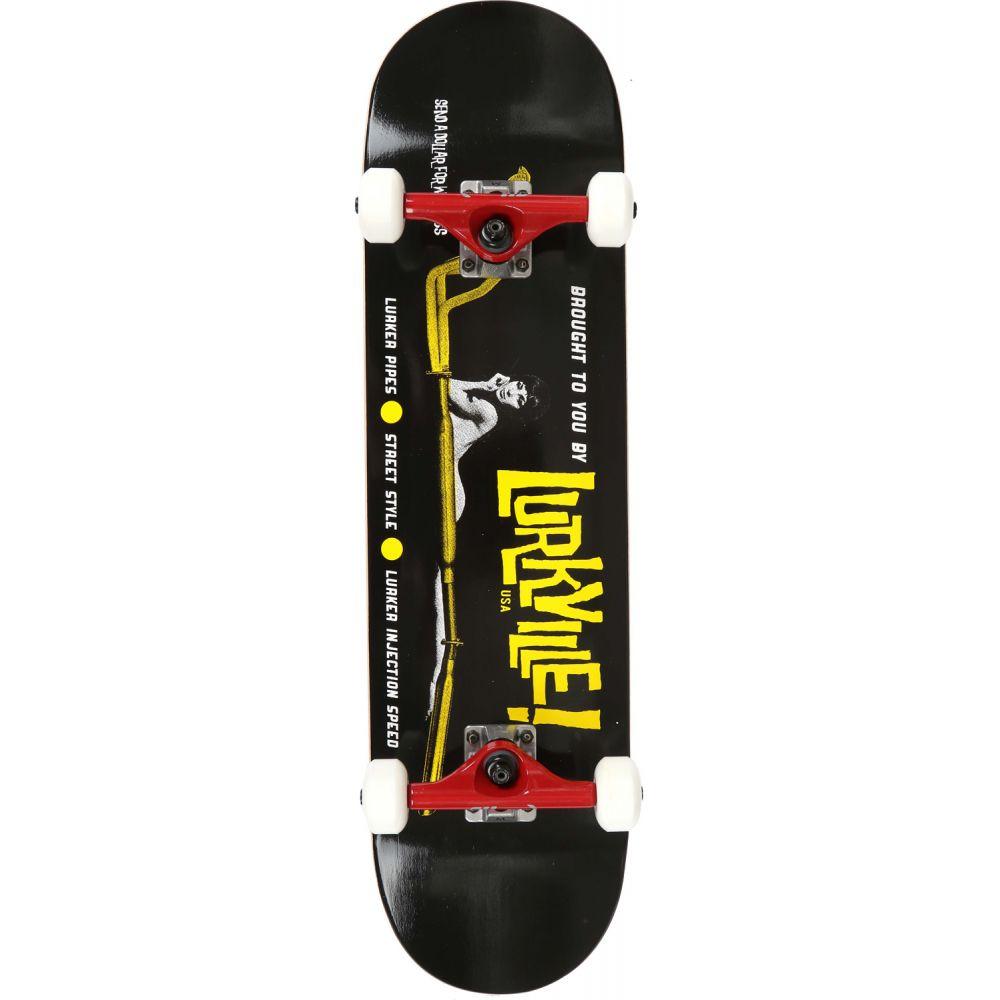 ラークビル Lurkville メンズ スケートボード ボード・板【Logo Pro Skateboard Complete】Yellow/Black