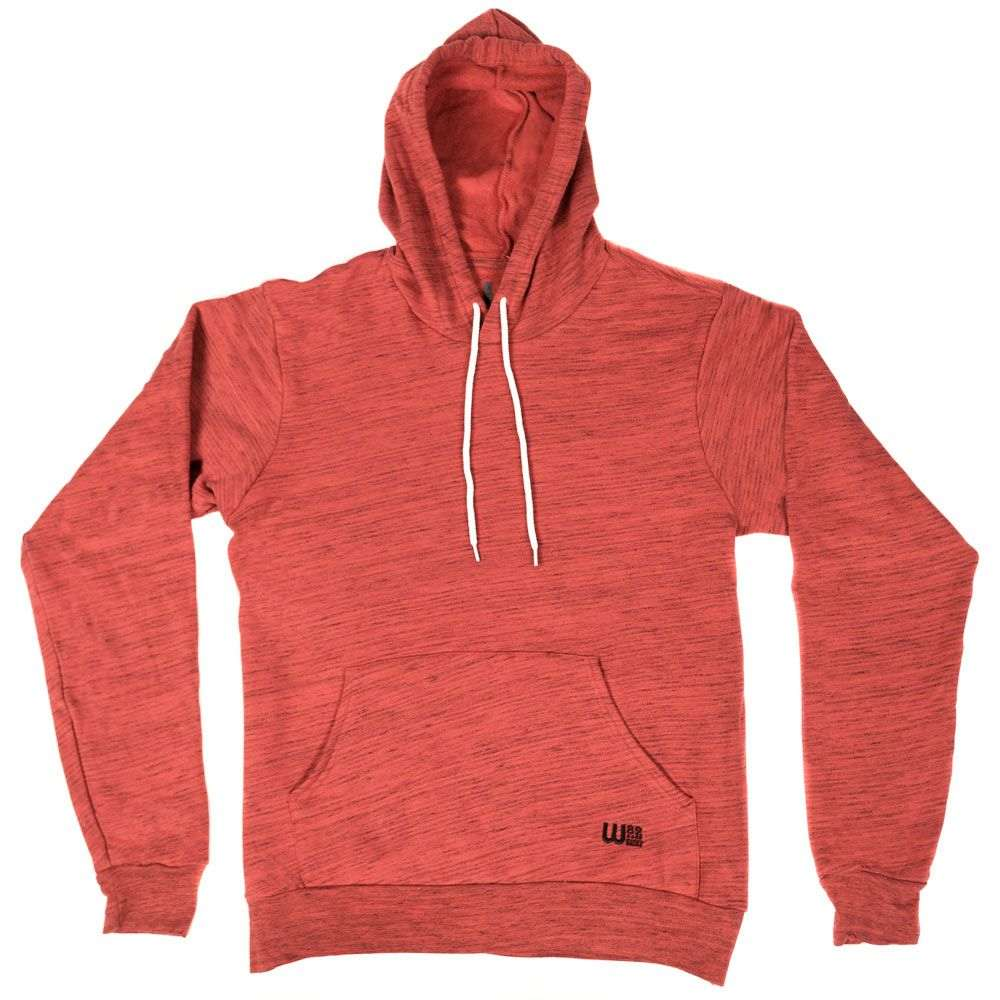 W82 メンズ スキー・スノーボード パーカー トップス【Premium Pullover Hoodie】Red Marble