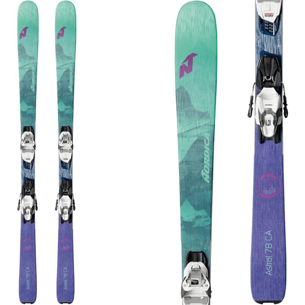 ノルディカ Nordica レディース スキー・スノーボード ビンディング【Astral 78 CA Skis w/ TP2 Compact 10 Bindings 2020】Green/Purple