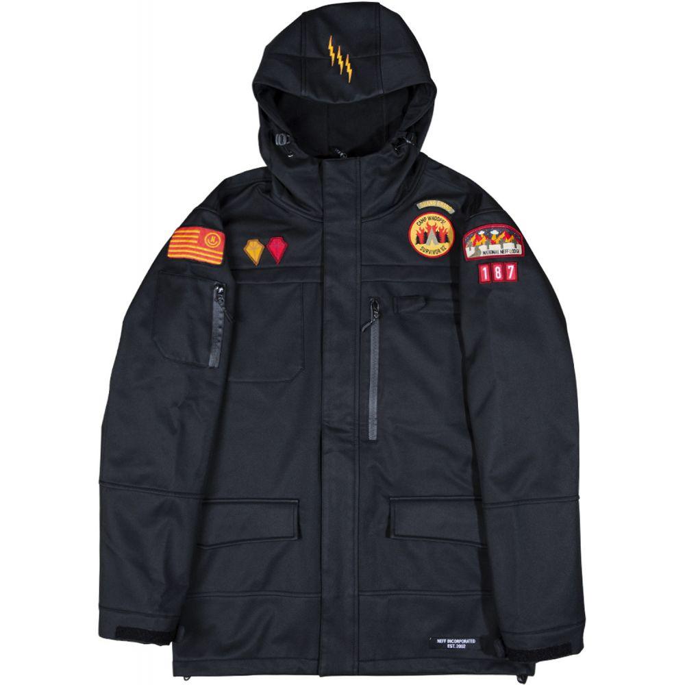 ネフ Neff メンズ スキー・スノーボード ソフトシェルジャケット アウター【On My Honor Softshell Snowboard Jacket 2020】Black