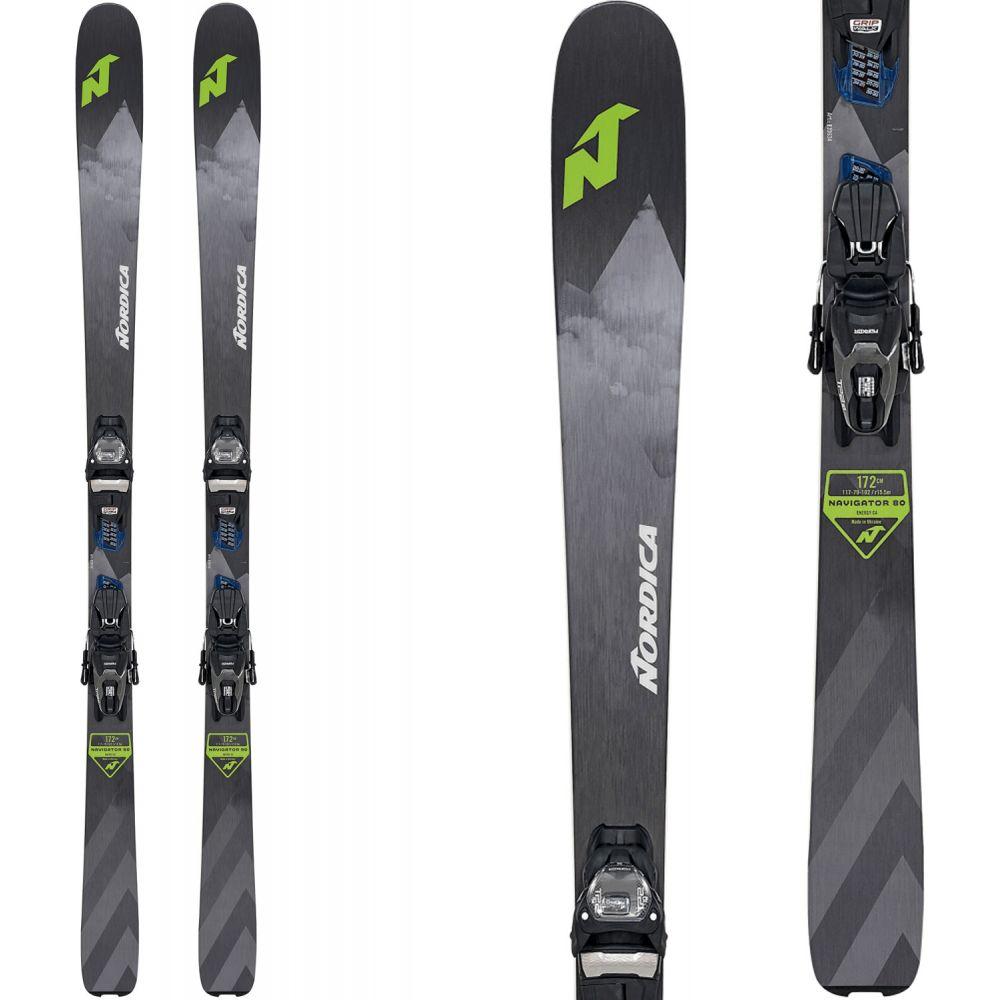 ノルディカ Nordica メンズ スキー・スノーボード ビンディング【Navigator 80 CA Skis w/ TP2 Compact 10 Bindings 2020】Grey/Green