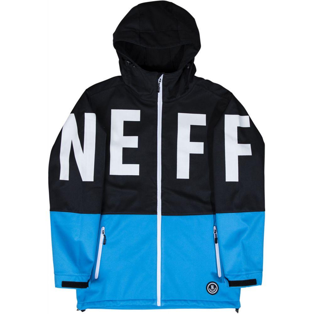 ネフ Neff メンズ スキー・スノーボード ソフトシェルジャケット アウター【Daily Softshell Snowboard Jacket 2020】Black/Baltic