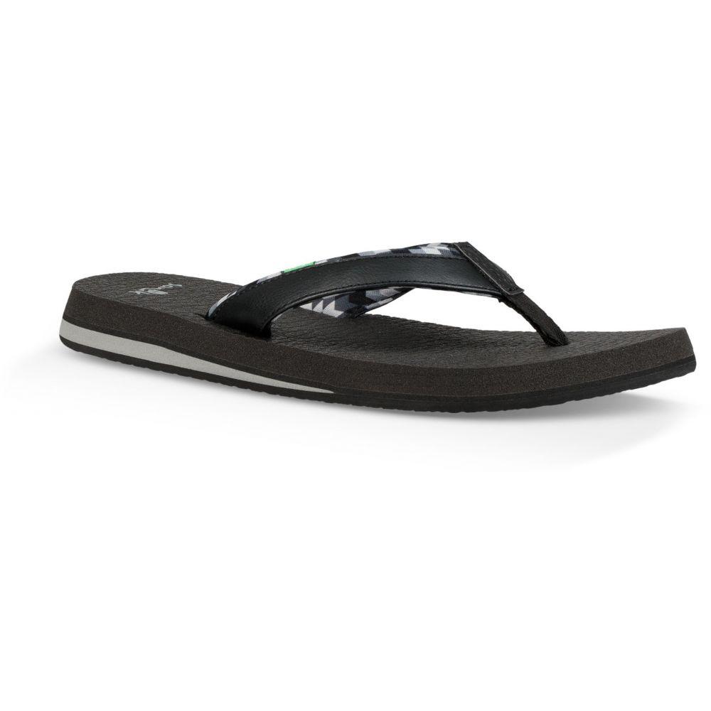 サヌーク Sanuk レディース ヨガ・ピラティス サンダル シューズ・靴【Yoga Mat 2 Sandals】Red Rock Chevron Black/Grey