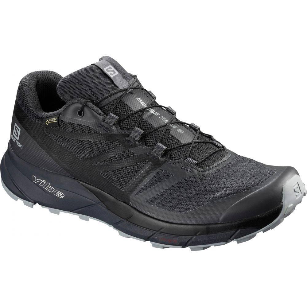 サロモン Salomon メンズ ランニング・ウォーキング シューズ・靴【Sense Ride 2 GTX Invisible Fit Trail Running Shoes】Ebony/Black/Quarry