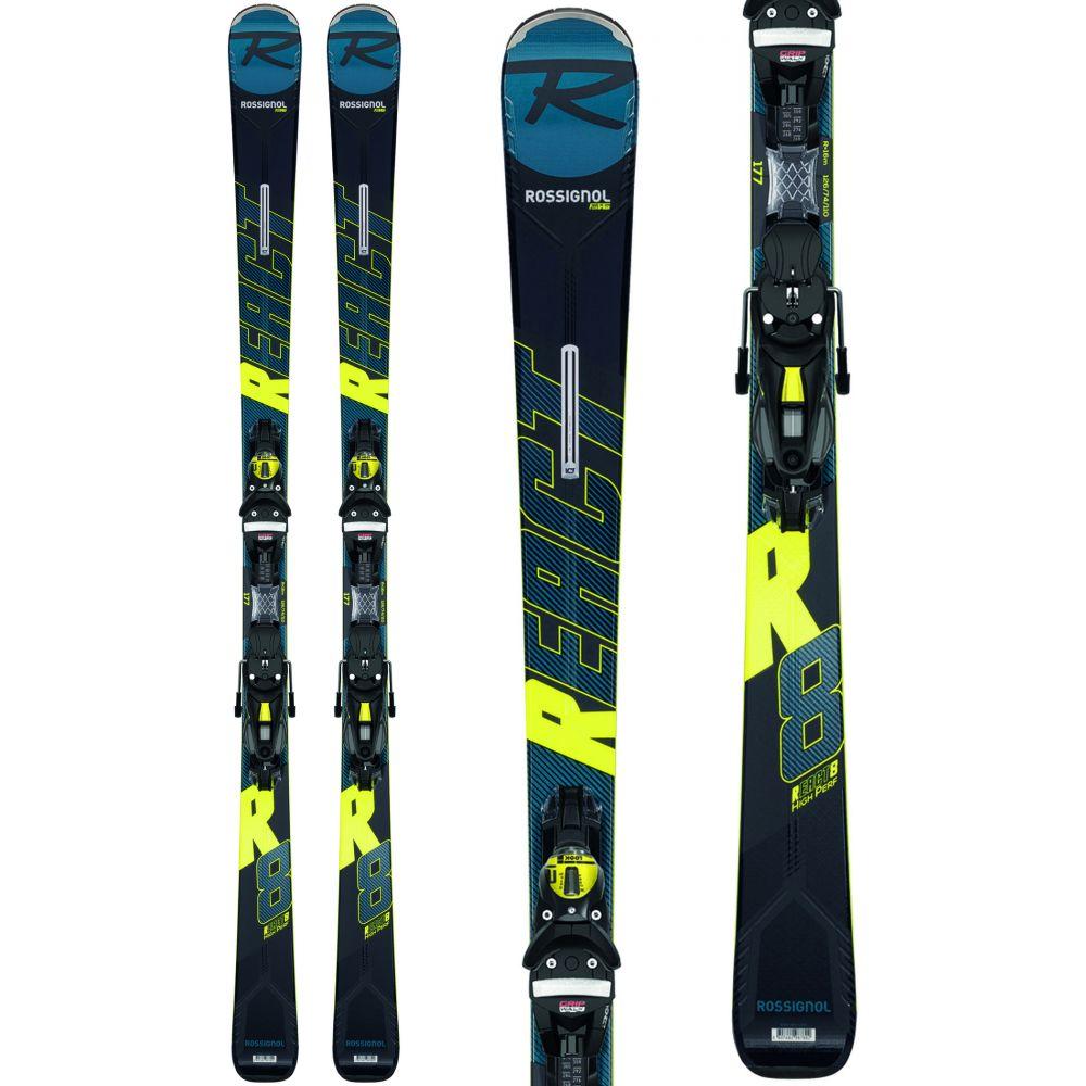 ロシニョール Rossignol メンズ スキー・スノーボード ビンディング【React R8 HP Skis w/ NX 12 GW Bindings 2020】Black/Yellow