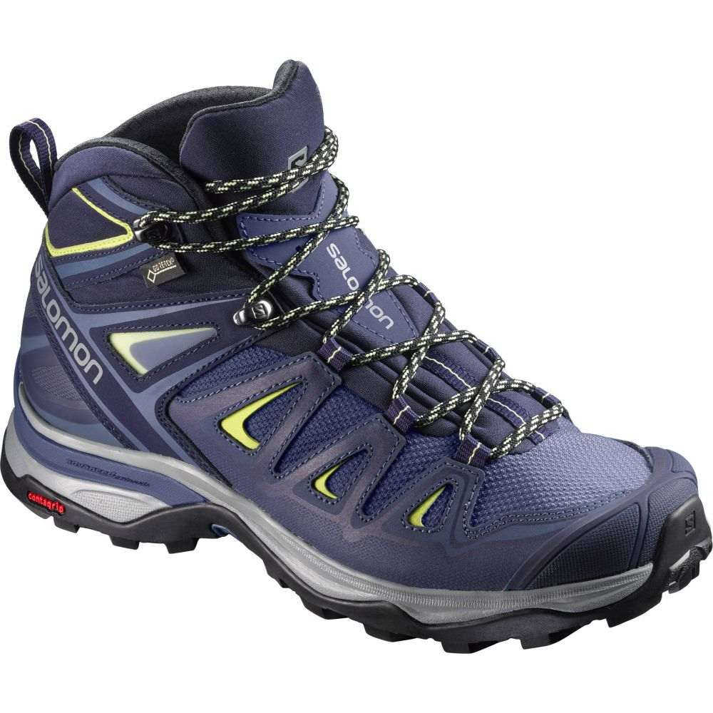サロモン Salomon レディース ハイキング・登山 シューズ・靴【X Ultra 3 Mid GTX Wide Hiking Boots】Crown Blue/Evening Blue/Sunny Lime