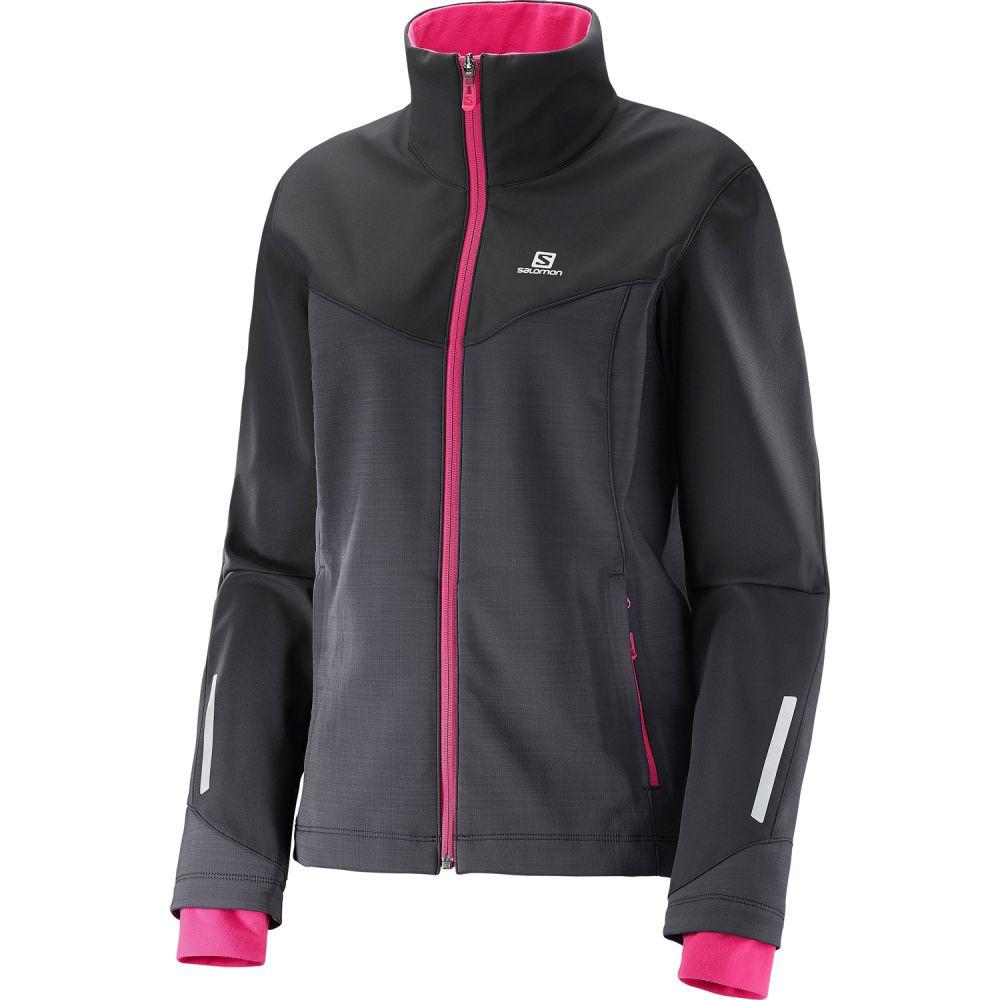 サロモン Salomon レディース スキー・スノーボード ソフトシェルジャケット アウター【Pulse Softshell XC Ski Jacket】Black/Yarrow Pink