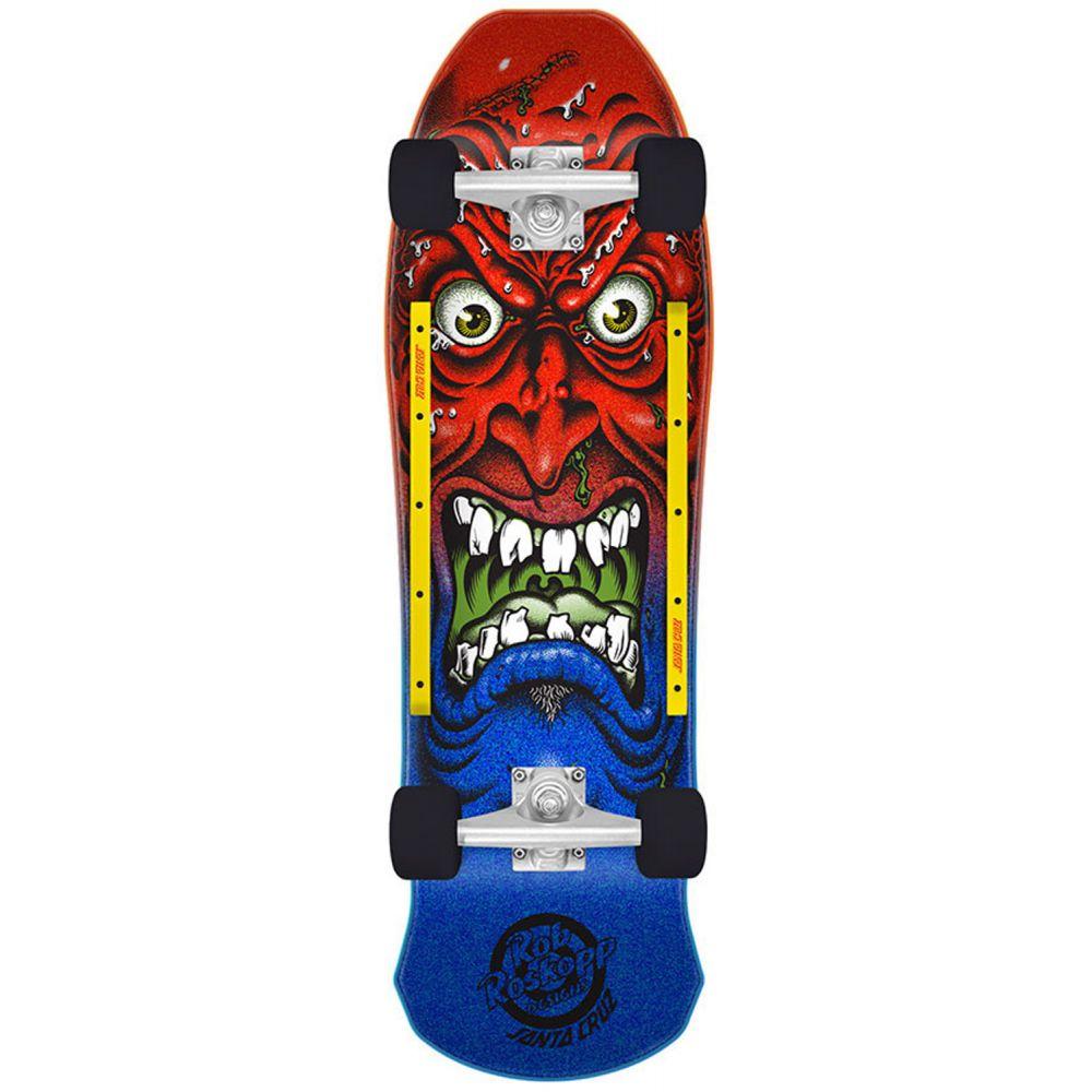 サンタクルーズ Santa Cruz メンズ スケートボード ボード・板【Roskopp Face Cruiser Complete】Red/Yellow/Black