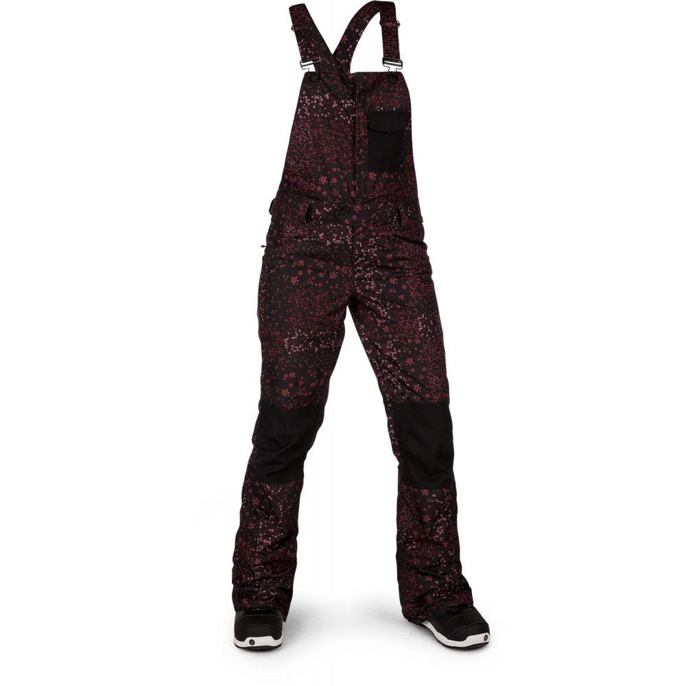 ボルコム Volcom レディース スキー・スノーボード ビブパンツ ボトムス・パンツ【Swift Bib Overall Snowboard Pants 2019】Black Floral Print